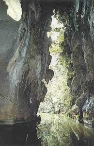 entrada a la cueva del indio